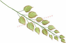 Edible Rose Leaf Trail with 14 Sugar Leaves Wedding Cake Decoration Topper