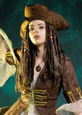 Stile Jack Sparrow Caraibi Pirata Cappello con i capelli non include Parrucca
