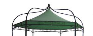 Dachplane Ersatzdach Pavillondach für Pavillon MODENA 6-eck, grün wasserdicht
