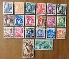 "EBS Germany 1947 French Zone Saar Jobs & Views ""Saar I""  Michel 206-225 MNH**"