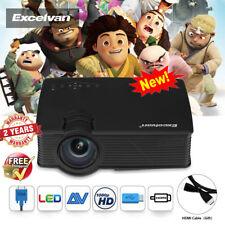 4K 3D Full HD 1080P LED Projector Home Theater AV/TV/USB/HDMI Built-In Speakers