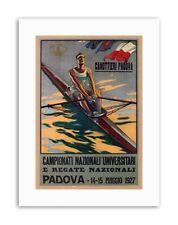 ROWING CANOE PADOVA ITALY REGATTA Poster Vintage Sport Exhibition Canvas art