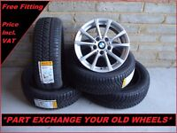 "2294 Genuine 16"" BMW 390 1 2 3 Series E90 Alloy Wheels & Pirelli Winter Tyres"