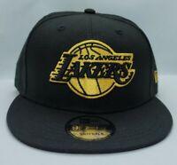 NEW ERA 9FIFTY SNAPBACK HAT.  NBA.  LOS ANGELES LAKERS.  BLACK.