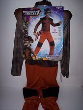 GUARDIANS OF THE GALAXY ROCKET RACCOON COSTUME KIDS SIZE MEDIUM 7-8 NEW !!!