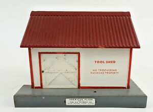 AMERICAN FLYER S SCALE 741 METAL TOOL SHED