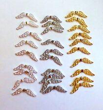 Ange Gardien Ailes de Fée Charm Spacer Bead excellente qualité brillant plaqué Wing