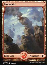 MOUNTAIN FOIL-versione 5 (full Art) | NM/M | Battle for Zendikar | Magic MTG