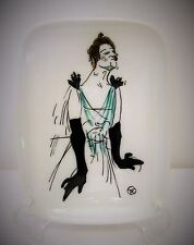 Man in Drag Limoges Signed Porcelain Plate, Small