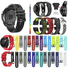For Garmin Fenix 5 5X Plus S60 3 HR Silicone watch Band Quick Release Easy Fit