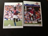 PANINI 92 (1992) football trading cards ASTON VILLA  X 2 PLAYERS TONY DALEY