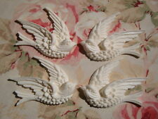 Shabby & Chic *Detailed Swallow Bird Furniture Appliques (2 Pairs) Architectural