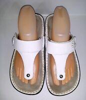 Alegria Women's Carina Thong Sandals White Poppy CAR-210 EUR 39 US 9 - 9.5