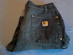 Vintage Carhartt Black Double Knee Work Pants 36x32 ...Preowned (Lot# 293)