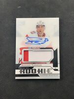 2018-19 UPPER DECK PREMIER DOMINIC TURGEON ROOKIE AUTO PATCH SILVER #ed 232/249