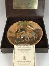 Fontanini Holy Family Flight into Egypt Limited Edition Christmas Plate 1989
