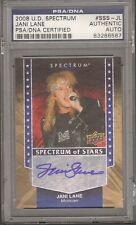 2008 Upper Deck Spectrum JANI LANE Warrant Signed Card PSA/DNA Slabbed #83286567