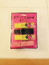 Nwt set of 4 cute Betsy Johnson floral and glitter novelty clothespins