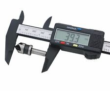 "150mm 6"" LCD Digital Electronic Carbon Fiber Vernier Caliper Gauge Calipers UK"