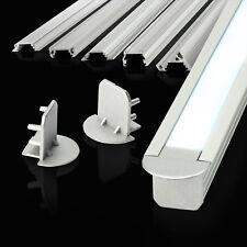 1m / 2m ALUMINIUM CHANNELS FOR LED STRIPS & ACCESSORIES profile light diffuser