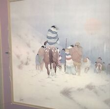 Donald Vann - HEADING NORTH- 1983 Signed/Print professionally matted and framed