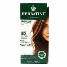 Herbatint Permanent Herbal Hair Color Gel, 5D Light Golden Chestnut, 4.56 Ounce