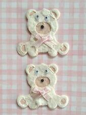 4 Bears baby bear girl Diecut Handmade mulberry paper Babies Cards Scrapbooks