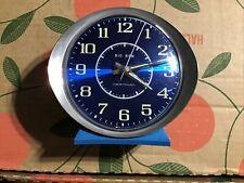 Westclox Big Ben Alarm Clock Wind Up Atomic Blue Chrome 10066 Usa Vintage Works