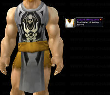 *** TABARD OF BRILLIANCE - WHITE *** WORLD OF WARCRAFT WOW LOOT TCG UDE
