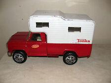 Vintage 1960's Red Tonka Steel Pickup w/Camper