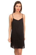 Nightdress Size S Black Unlined Strappy Deep Neckline