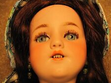 "Simon & Halbig 18""T; 1249 Dep Santa 6 1/2 Bisque socket head doll, eye lashes"