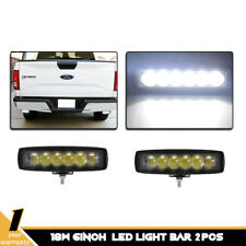 6 Inch 18W LED Work Light Bar Flood Lamps Offroad Truck Boat SUV 4D Lens 6 LEDs