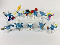 Lot Of 11  Smurf Figures