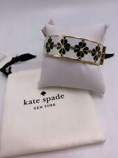 $128 Kate Spade goldtone enamel flower bangle bracelet #2