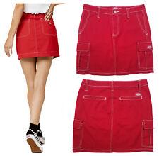 Dickies Red Denim Slash Pocket Cargo Skirt - 6 Pockets #J7003TW - Juniors 5/27