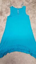 WOMENS TU LONG VEST TOP SIZE 8 TEAL/GREEN