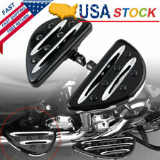 CNC Motorcycle Rear Passenger Floorboards Floor Boards Foot Pegs For Harley US