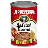 LA PREFERIDA, BEAN REFRIED FF AUTHENTIC, 16 OZ, (Pack of 12)