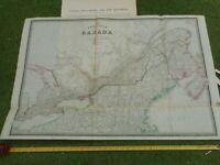 100% ORIGINAL LARGE CANADA  MAP BY JAMES WYLD  C1849 VGC ORIGINAL COLOUR