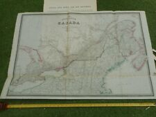 100% ORIGINAL LARGE CANADA  MAP BY JAMES WYLD  C1849 VGC ORIGINAL COLOUR