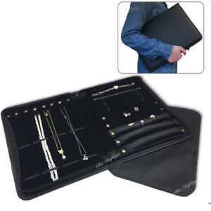 Jewelry Case Salesman Jewelry Display Portfolio Black Jewelry Folder Travel Case