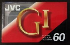 Pack of 2 NEW JVC GI Normal Position IEC 1/Type 1 60 Cassette Tape Recording