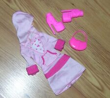 Lot Barbie Dress With Matching Shoes & Purse