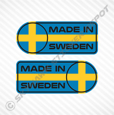 Made In Sweden Car Sticker Set Vinyl Decal Swedish Flag Sticker For Volvo & Saab