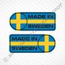 Made In Sweden Car Sticker Set Vinyl Decal Swedish Flag Sticker For Volvo & Saab