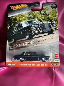 HOT WHEELS CAR CULTURE MODERN CLASSICS 5/5 '72 MERCEDES-BENZ SEL 4.5