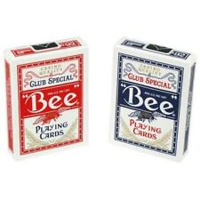 More details for 12 bicycle standard index bee poker casino magic playing cards 6 red 6 blue deck