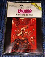 Kreator Pleasure to Kill. Cassette Tape Plays Well Hardcore Thrash Metal Rare