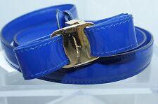 New Salvatore Ferragamo Womens Blue Belt Reversible Size XL Viola Leather